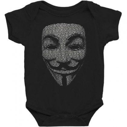 V For Vendetta Mask Guy Fawkes Cool Girls Womens Cotton T Shirt Dw01 Baby Bodysuit Designed By Nugraha