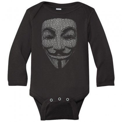 V For Vendetta Mask Guy Fawkes Cool Girls Womens Cotton T Shirt Dw01 Long Sleeve Baby Bodysuit Designed By Nugraha