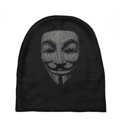 V For Vendetta Mask Guy Fawkes Cool Girls Womens Cotton T Shirt Dw01 Baby Beanies Designed By Nugraha