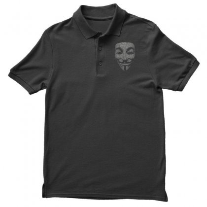 V For Vendetta Mask Guy Fawkes Cool Girls Womens Cotton T Shirt Dw01 Men's Polo Shirt Designed By Nugraha