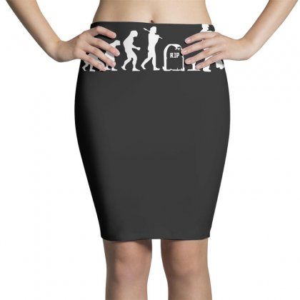 Zombie Evolution Pencil Skirts Designed By Nugraha