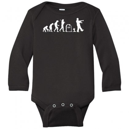 Zombie Evolution Long Sleeve Baby Bodysuit Designed By Nugraha