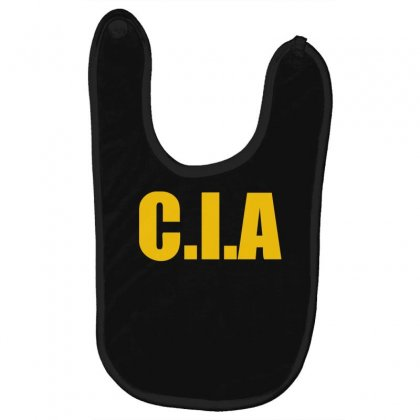 Cia  Funny  Fashion Fbi Feds Joke Fancy Dress Baby Bibs Designed By Nugraha