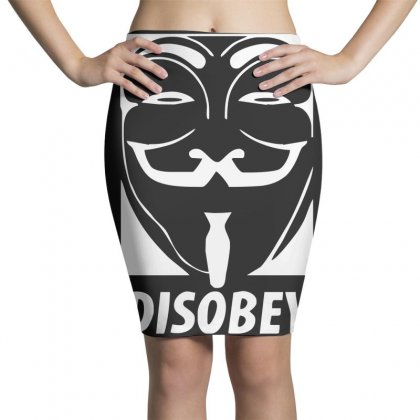 Disobey Anonymous Anon Vendetta Pencil Skirts Designed By Nugraha