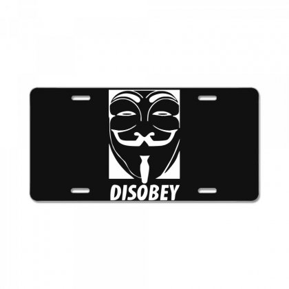 Disobey Anonymous Anon Vendetta License Plate Designed By Nugraha