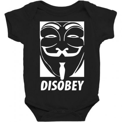 Disobey Anonymous Anon Vendetta Baby Bodysuit Designed By Nugraha