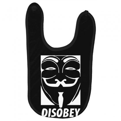 Disobey Anonymous Anon Vendetta Baby Bibs Designed By Nugraha