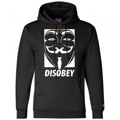 Disobey Anonymous Anon Vendetta Champion Hoodie Designed By Nugraha