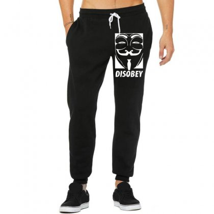 Disobey Anonymous Anon Vendetta Unisex Jogger Designed By Nugraha