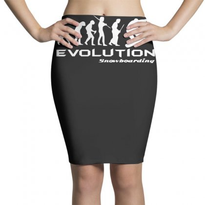 Evolution Of Snowboarding Funny Pencil Skirts Designed By Nugraha