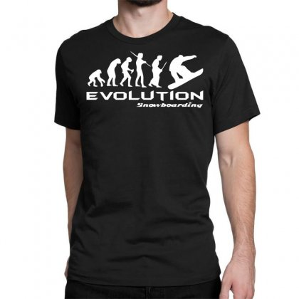 Evolution Of Snowboarding Funny Classic T-shirt Designed By Nugraha