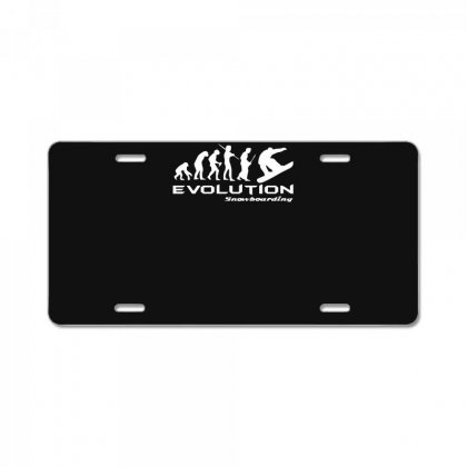 Evolution Of Snowboarding Funny License Plate Designed By Nugraha