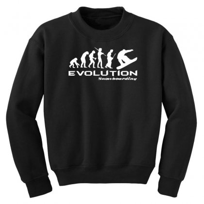 Evolution Of Snowboarding Funny Youth Sweatshirt Designed By Nugraha