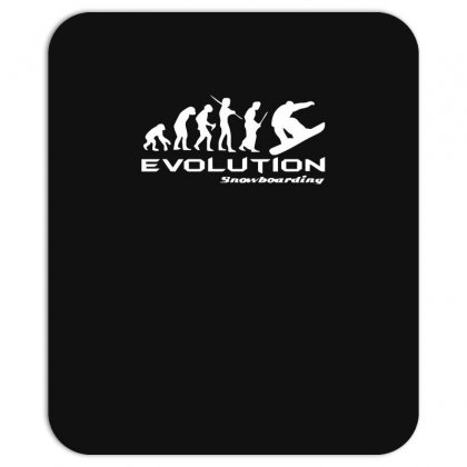 Evolution Of Snowboarding Funny Mousepad Designed By Nugraha