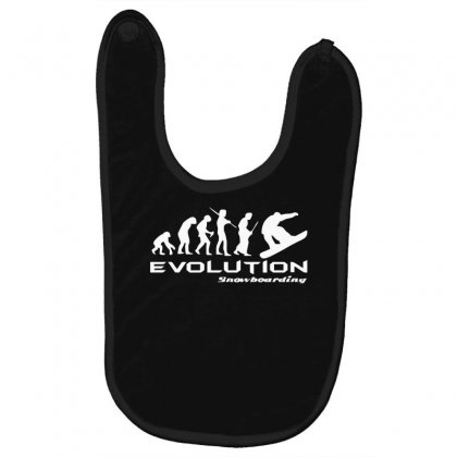 Evolution Of Snowboarding Funny Baby Bibs Designed By Nugraha