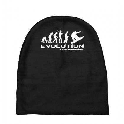 Evolution Of Snowboarding Funny Baby Beanies Designed By Nugraha