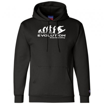 Evolution Of Snowboarding Funny Champion Hoodie Designed By Nugraha