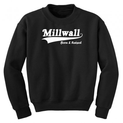 Millwall Born And Raised Retro Youth Sweatshirt Designed By Nugraha