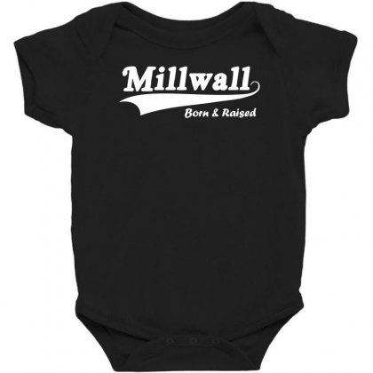 Millwall Born And Raised Retro Baby Bodysuit Designed By Nugraha