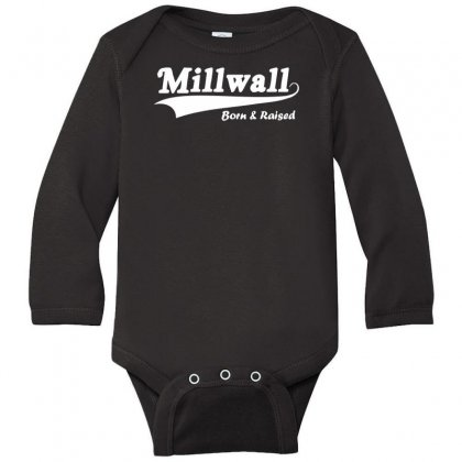 Millwall Born And Raised Retro Long Sleeve Baby Bodysuit Designed By Nugraha