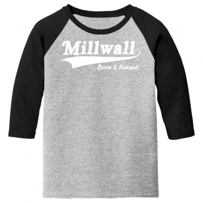 Millwall Born And Raised Retro Youth 3/4 Sleeve Designed By Nugraha