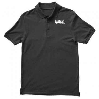 Millwall Born And Raised Retro Men's Polo Shirt Designed By Nugraha