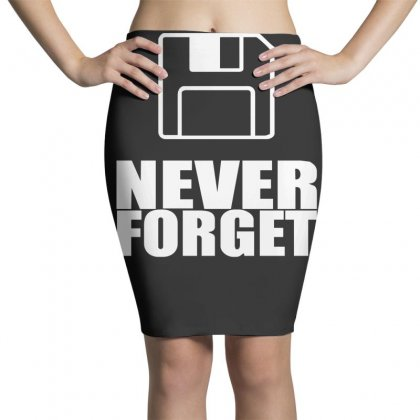 Never Forget 3.5 Floppies Pencil Skirts Designed By Nugraha