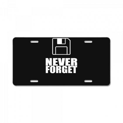 Never Forget 3.5 Floppies License Plate Designed By Nugraha