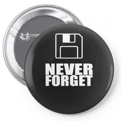 Never Forget 3.5 Floppies Pin-back Button Designed By Nugraha
