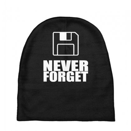 Never Forget 3.5 Floppies Baby Beanies Designed By Nugraha