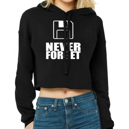 Never Forget 3.5 Floppies Cropped Hoodie Designed By Nugraha