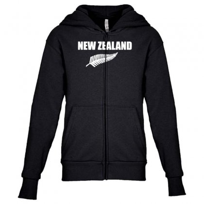 New Zealand Youth Zipper Hoodie Designed By Nugraha