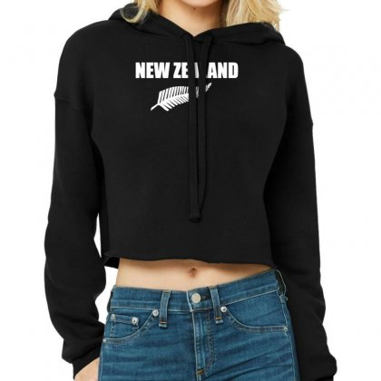 New Zealand Cropped Hoodie Designed By Nugraha