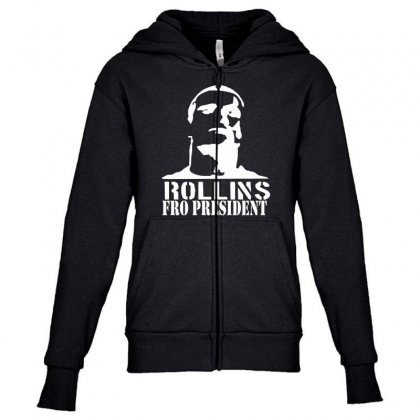 Rollins For President Youth Zipper Hoodie Designed By Nugraha