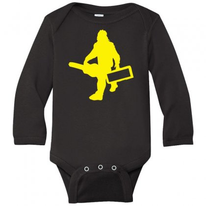 Sasquatch Guitar Gear  Funny Bigfoot Yeti Comic Monster Retro Long Sleeve Baby Bodysuit Designed By Nugraha