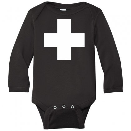Switzerland International  Country T Sport Flag Sport Swiss Long Sleeve Baby Bodysuit Designed By Nugraha