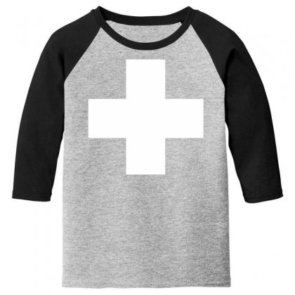 Switzerland International  Country T Sport Flag Sport Swiss Youth 3/4 Sleeve Designed By Nugraha