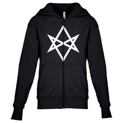 Thelema Sign Youth Zipper Hoodie Designed By Nugraha