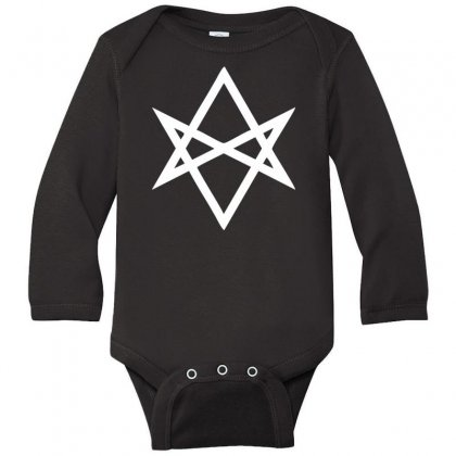 Thelema Sign Long Sleeve Baby Bodysuit Designed By Nugraha