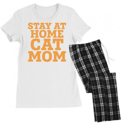 Stay At Home Cat Mom Women's Pajamas Set Designed By Bon T-shirt