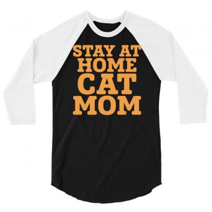 Stay At Home Cat Mom 3/4 Sleeve Shirt Designed By Bon T-shirt