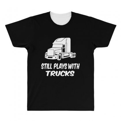 Still Plays With Trucks All Over Men's T-shirt Designed By Bon T-shirt