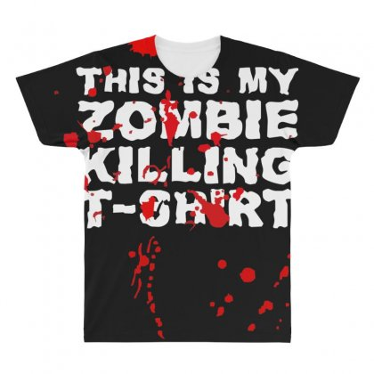 This Is My Zombie Killing All Over Men's T-shirt Designed By Nugraha