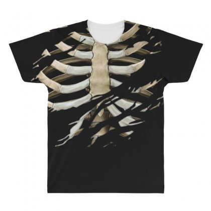 Torn Rib Cage All Over Men's T-shirt Designed By Nugraha