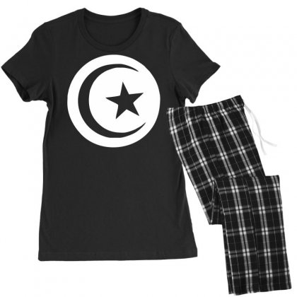 Tunisia International Support Your Country  Sport Flag Sport Women's Pajamas Set Designed By Nugraha