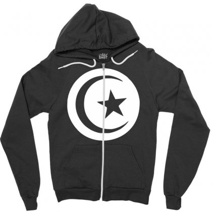 Tunisia International Support Your Country  Sport Flag Sport Zipper Hoodie Designed By Nugraha