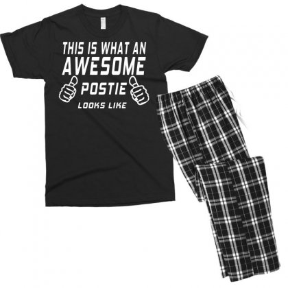 This Is What An Awesome Postie Looks Men's T-shirt Pajama Set Designed By Bon T-shirt