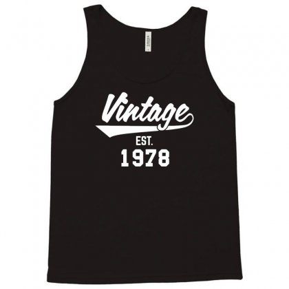 Vintage Established 1978 Tank Top Designed By Bon T-shirt