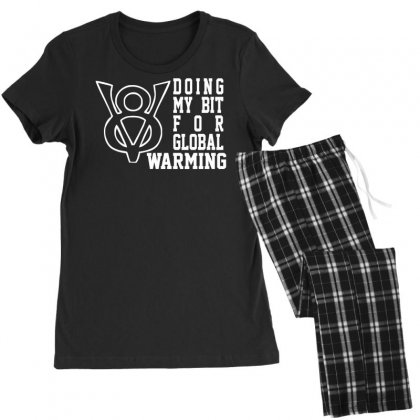 V8 Global Warming Funny Environment Top Gear Clarkson Cars Rev Women's Pajamas Set Designed By Nugraha
