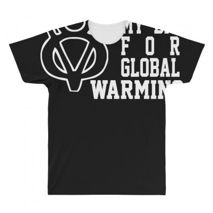V8 Global Warming Funny Environment Top Gear Clarkson Cars Rev All Over Men's T-shirt Designed By Nugraha